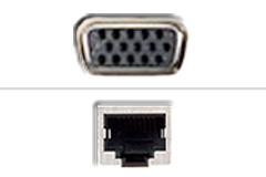 VGA - RJ45 Ethernet