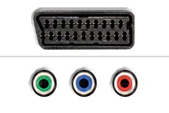 Scart - Component video
