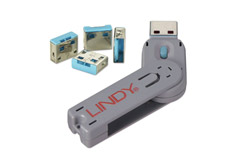 Lindy USB portblocker, blå