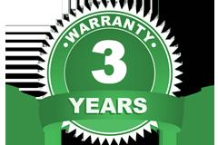 Waranty - 3 years
