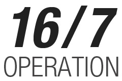 Operation Hours  16/7