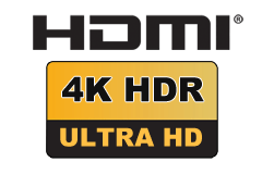 HDMI 2.0b - Premium High Speed (up til 18 Gbit/s)