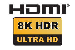 HDMI 2.1 - Ultra High Speed (op til 48.0 Gbit/s)